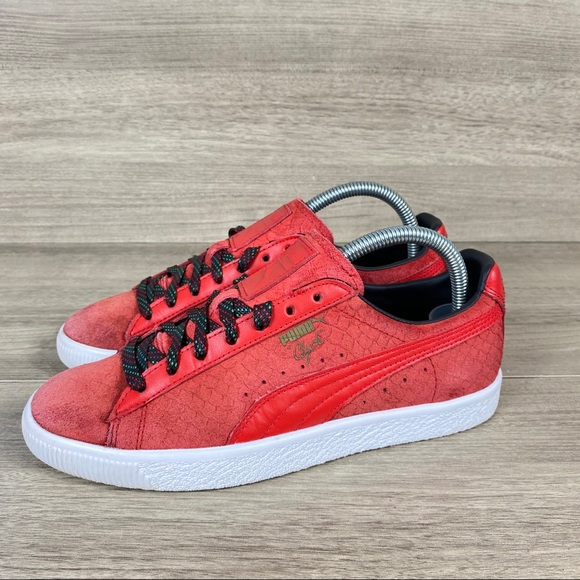 Puma Shoes | Womens Clyde Red Snake